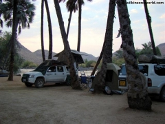 Campsite under the palms