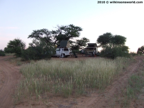 Campsite at Sizatswe