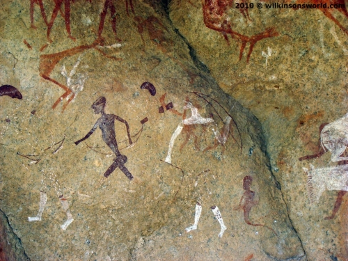 Rock art at Snake Cave