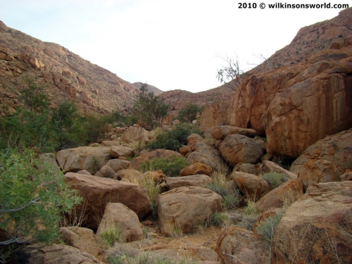 View up the Hungorob Gorge