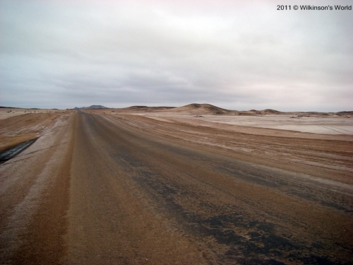 Salt road north of Henties Bay