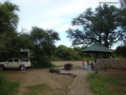 The riverside campsite