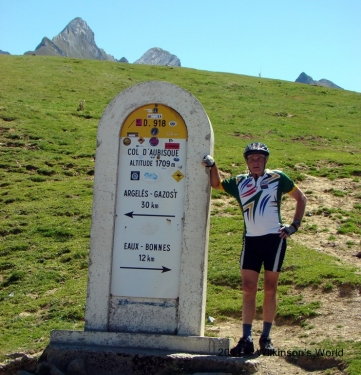 Ken at the top of Col d'Aubisque