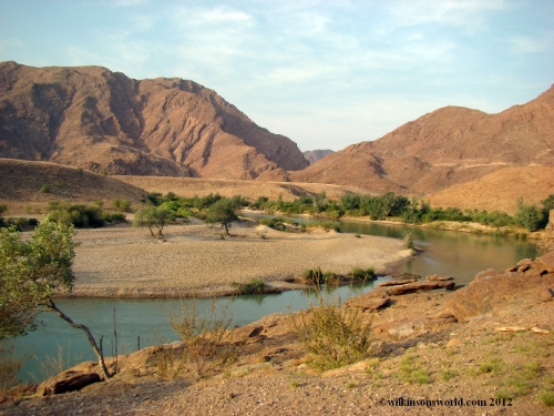 Kunene River looking into Angola
