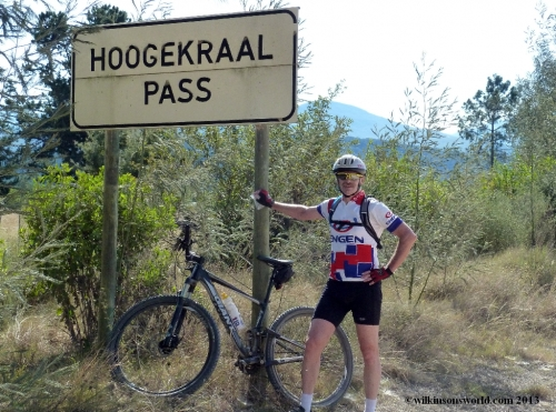 1 - Day 1 - Rob at the top of Hoogekraal Pass