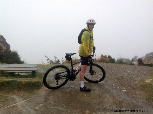 8 - Day 3 - Rob climbing the south Swartberg Pass, 2km from top