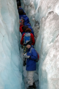 Jane walled in by ice