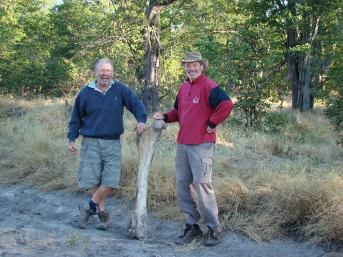 Jon & Ron with an elephant's femur