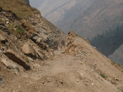Rough going - between Jomsom and Tatopani