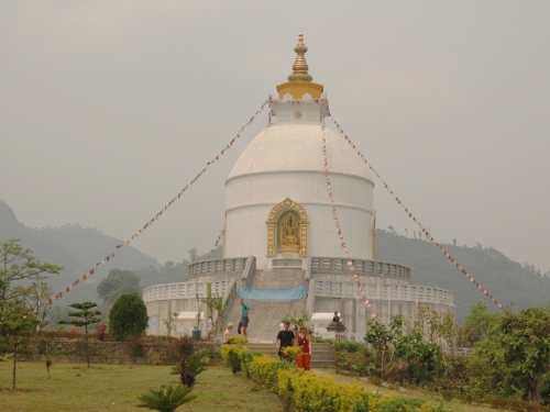 The World Peace Temple in Pokhara