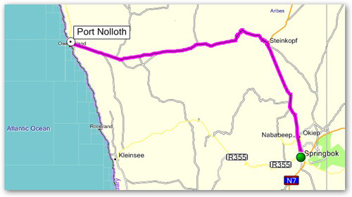 Day 1 - Port Nolloth to Springbok