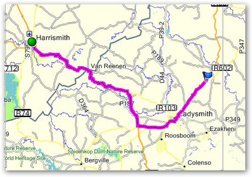 Day 12 - Harrismith to Junction N11 & R602