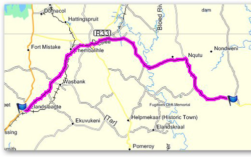 Day 13 - Junction N11 & R602 to 20km from Babanango