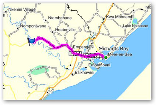 Day 15 - Mfuli Game Lodge to Richards Bay