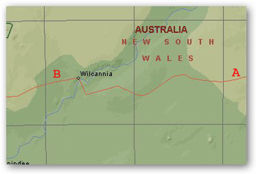 Emmdale (A) to Wilcannia (B)