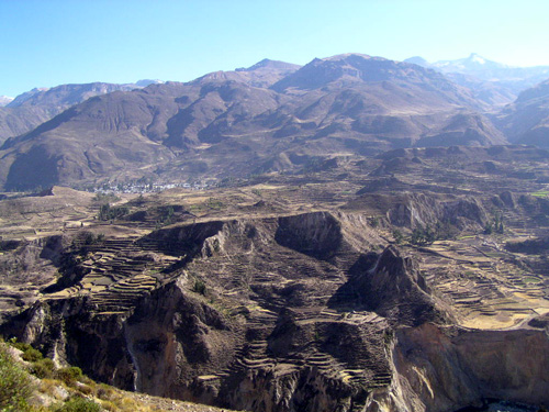 Terraces en route to Colca Canyon