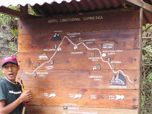 Ephrahim shows us the Inca Trail