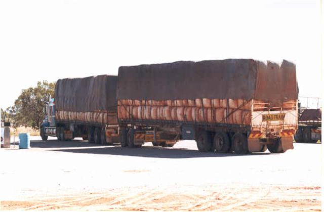 A roadtrain - they take up a BIG part of the road!