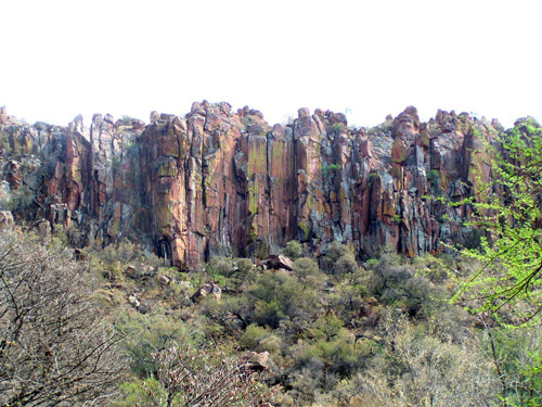 The Waterberg cliifs