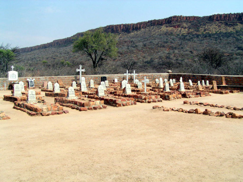 The cemetery at Waterberg