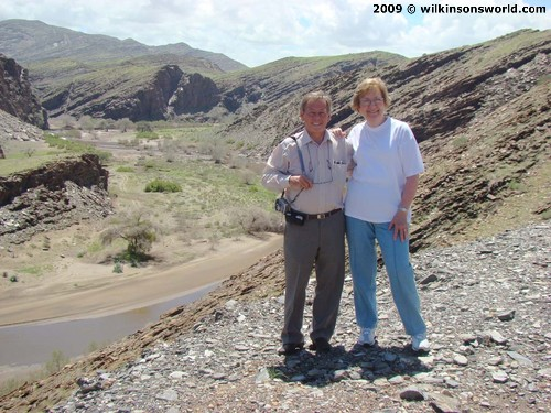 Duncan & Beryl at the top of the Gamsberg Pass