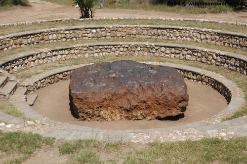 The Hoba meteorite found on the farm 'Hoba West'