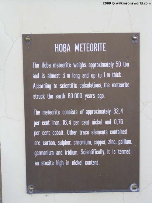 Information board at the Visitors Centre