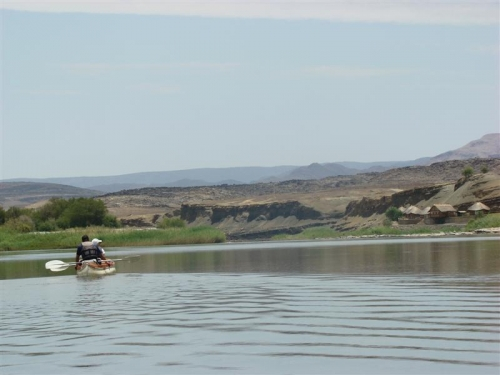 Tranquil scenery as we rowed