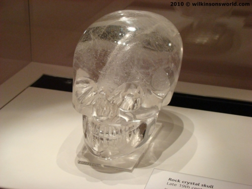 Crystal skull in British Museum