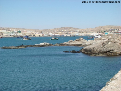 Luderitz harbour from Shark Island