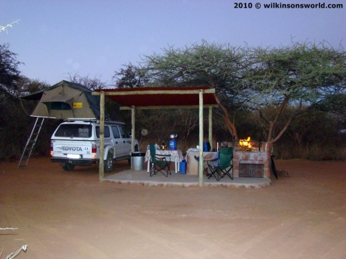 Campsite at Waterberg