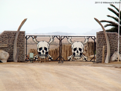 Gates to Skeleton Coast Park