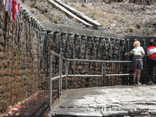 Fountains at Muktinath Temple