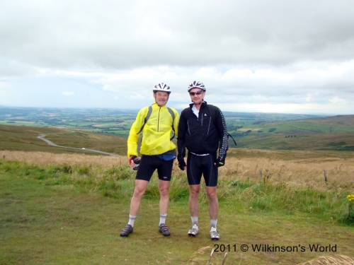 Rob and Andy at Hartside