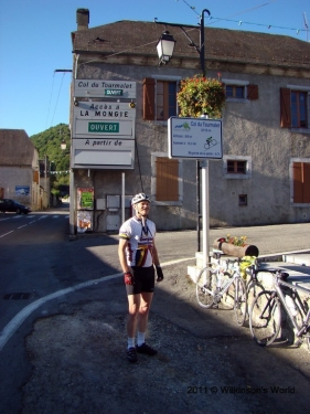 Rob at the foot of the Col du Tourmalet