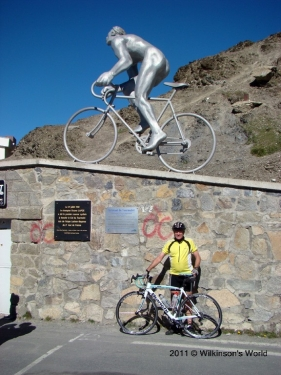 Ken at the top of the Col du Tourmalet