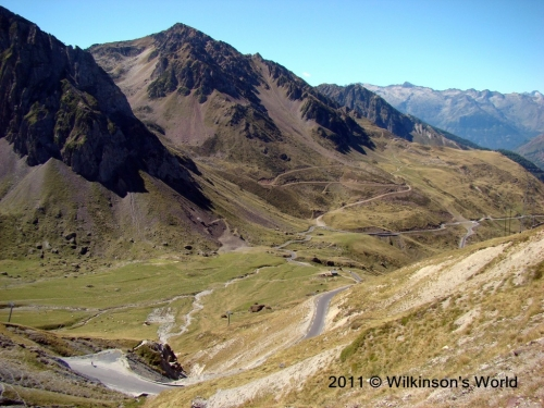 View from the top of the Col du Tourmalet