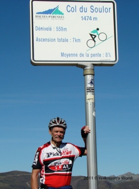 Rob at the top of Col du Soulor