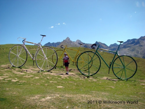 Rob and the bikes at the top of col d'Aubisque