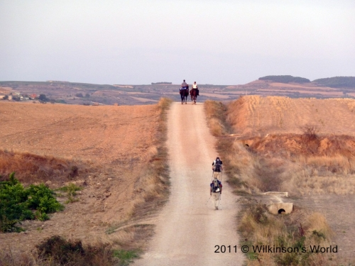 Camino on foot and on horseback