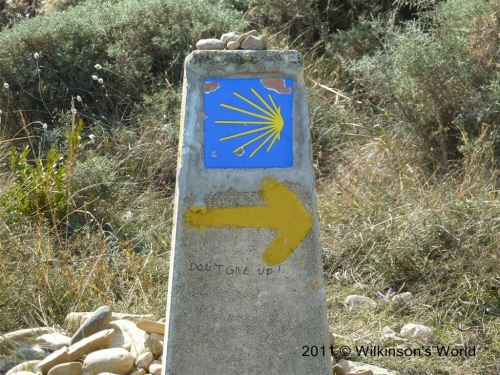 Camino arrows - and encouragement!