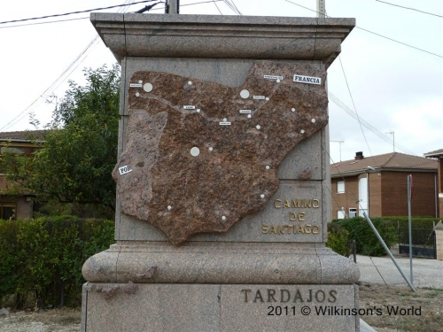 Stone map of the Camino Frances