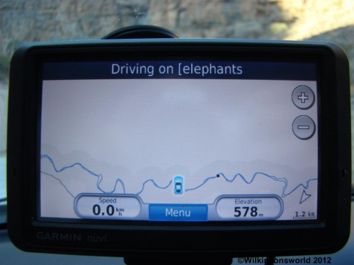 Our GPS had a nervous breakdown