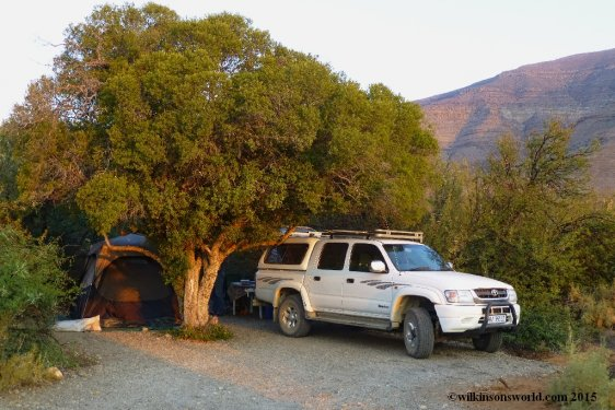 Our campsite in Tankwa Karoo Nat Park