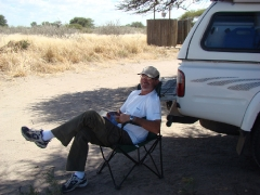 Campsite Activities - Rob reading