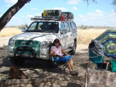 Campsite Activities - Jane reading