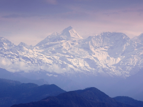 The mountains at Nagarkot