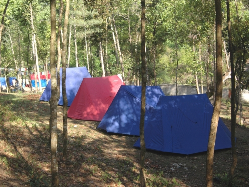 The campsite at Godawari