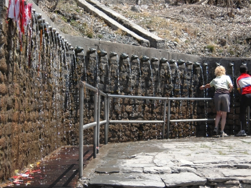 Some of the taps at Muktinath Temple